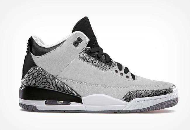 3f306413589 Air Jordan III (3) 'Wolf Grey/Metallic Silver-Black-White' | New ...