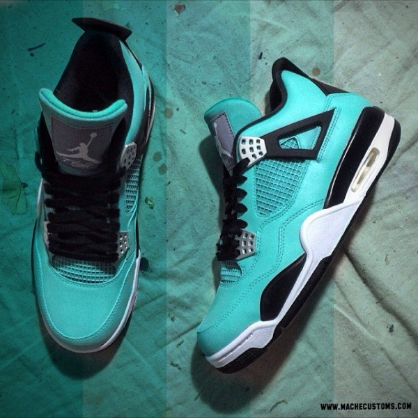 ff50fc260816 Air Jordan IV (4)  Tiffany  Custom