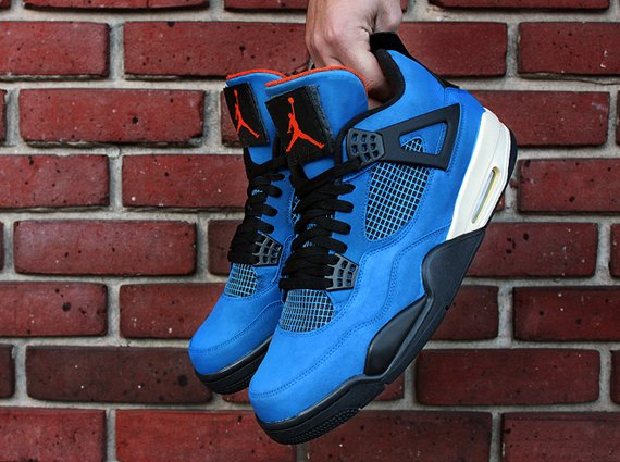 Air Jordan 4 Blue Undefeated by Dank Customs
