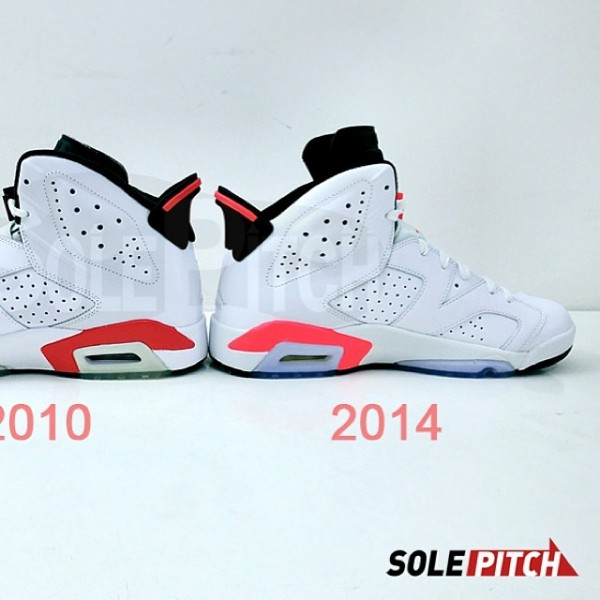 Real Vs Fake Retro 12: Air Jordan VI (6) 'White/Infrared-Black'