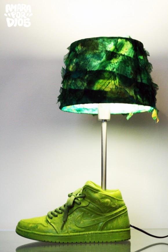 Sneaker Lamp LuminAir by Artist Amara Por Dios
