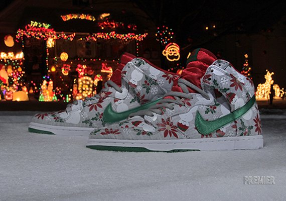Ugly Christmas Sweater Nike Shoes - Cardigan With Buttons