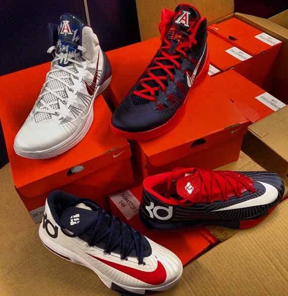 "40515afb5f55 Nike KD 6 + Hyperdunk 2013 ""Arizona Wildcats"" PEs"