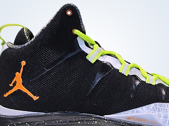 Jordan Super.Fly 2 Black Total Orange Reflect Silver
