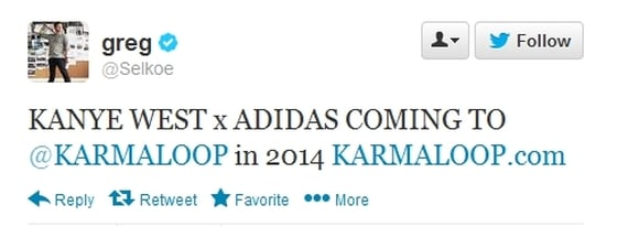 Kanye West x adidas Product to be Sold at Karmaloop