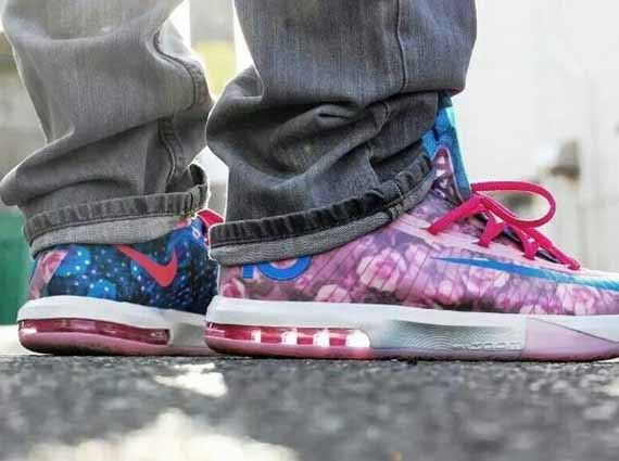 Nike KD 6 Aunt Pearl On-Feet Images