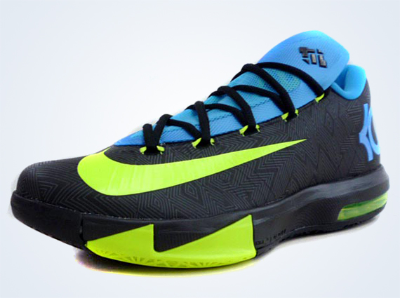 b783ec5b27a Nike KD 6 – Black – Volt – Vivid Blue – Dark Grey - Another Look ...