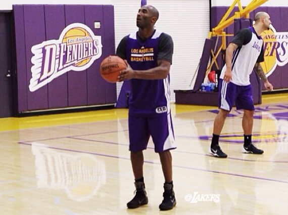 Kobe Bryant Practices in Nike Kobe 9 Elite