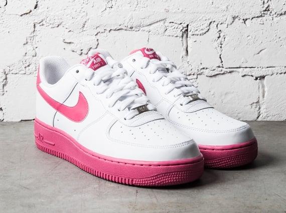 nike air force 1 low white vivid pink sneakerfiles. Black Bedroom Furniture Sets. Home Design Ideas
