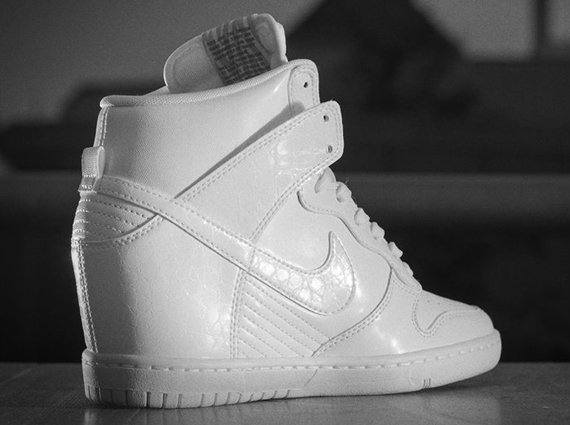 quality design 01b81 a1086 ... shoes all white fcd0f 29d46  sale nike dunk sky high wedge 4a5b8 874de