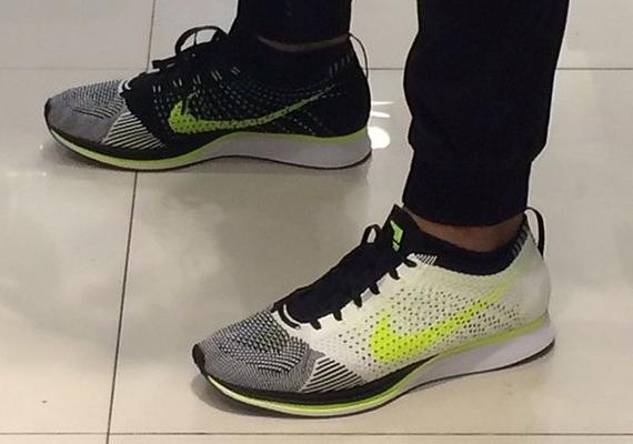 sells footwear pre order Nike Flyknit Racer – White – Black – Volt   SneakerFiles