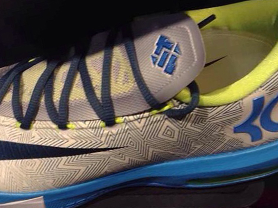 Nike KD 6 Grey Volt Blue First Look