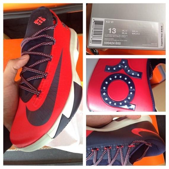 Nike KD 6 – Light Crimson Navy First Look