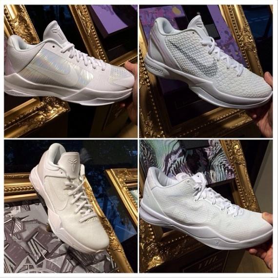 Nike Kobe White Collection