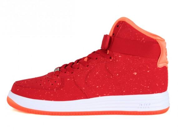 Nike Lunar Force 1 High Speckle University Red Orange