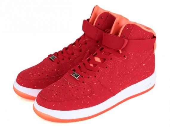timeless design 361ef f904a Nike Lunar Force 1 High Speckle University Red Orange
