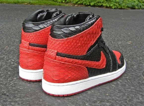 Air Jordan 1 Bred Python by JBF Customs