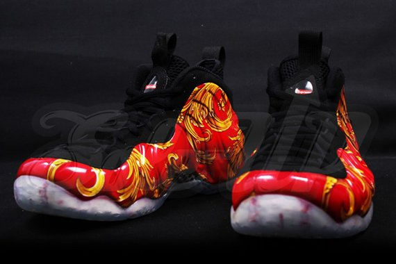 Supreme x Nike Air Foamposite One Red Detailed Look