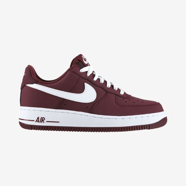 Men's - Nike Air Force 1 Cherrywood Red / White Shoes