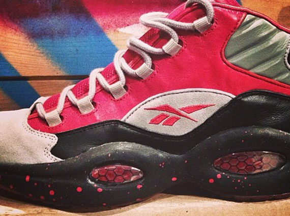 Stash x Reebok Question Black Red Grey Another Look