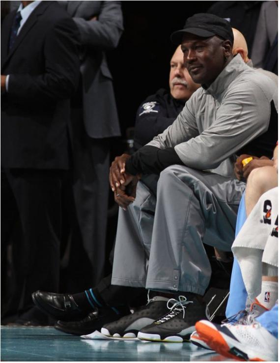 Michael Jordan Spotted Wearing Unreleased Air Jordan 13