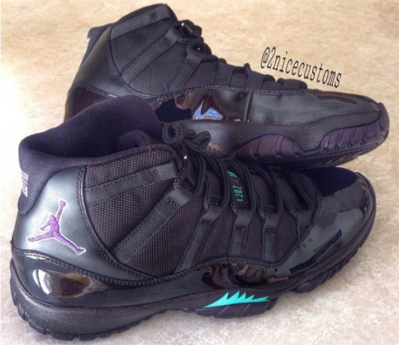 Air Jordan 11 Black Grape Custom