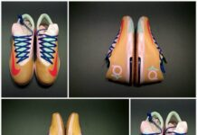 Nike KD VI Orange/Pink-Mint PE