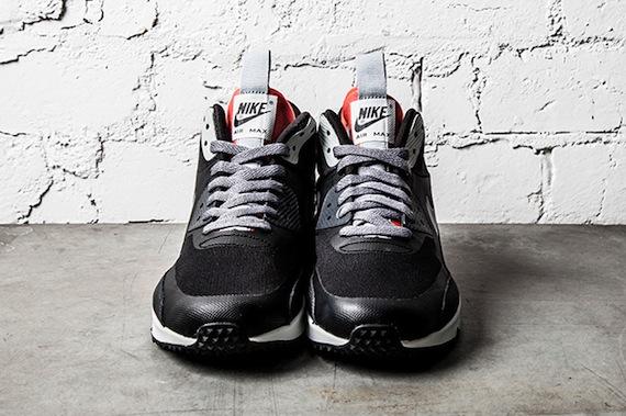 Nike Air Max 90 Sneakerboot Gris Negro Y Carmesí Luz N1dyPAV