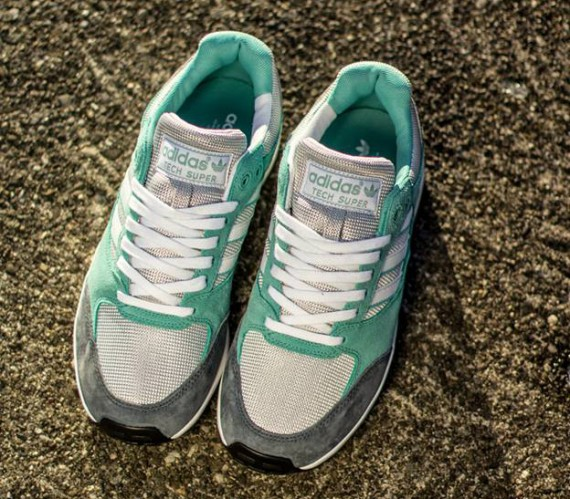 adidas Tech Super  Mint/Grey/White