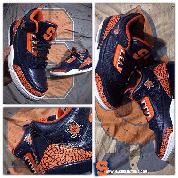 "Air Jordan III (3) ""Syracuse"" Custom by Mache Customs"