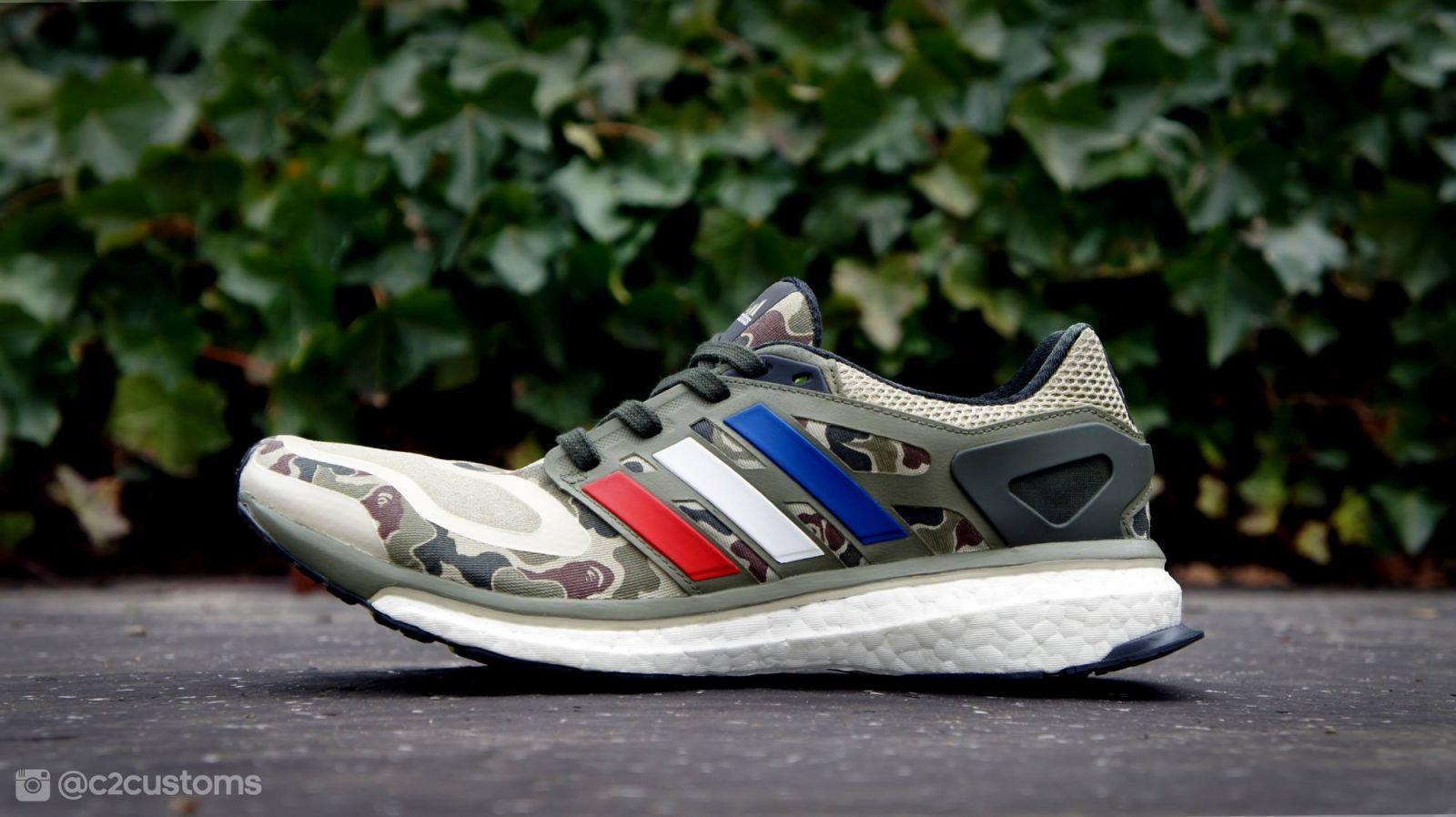 Adidas Energy Boost A Bathing Ape Custom Sneakerfiles
