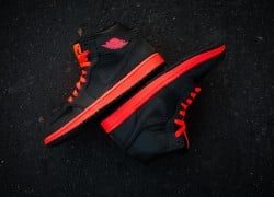 Air Jordan 1 Mid 'Black/Infrared 23′