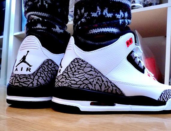 Air Jordan 3 GS Cement Grey On-Feet Look