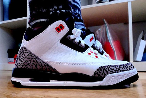 Air Jordan 3 GS Cement Grey On-Feet Look