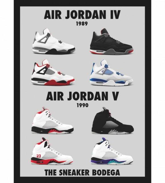 """Air Jordan """"OGs"""" Posters by Sneaker Bodega"""