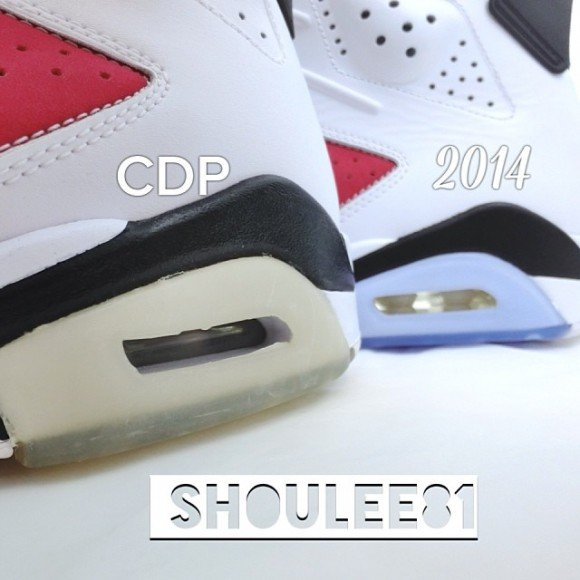 buy popular 1a0ea cfe3a Air Jordan VI (6) 'Carmine' | 2008 vs. 2014 Comparison ...