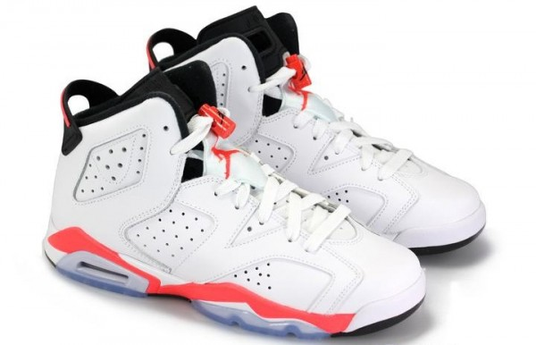 detailed look e0e48 fb39e Air Jordan VI (6) GS 'White/Infrared-Black' | SneakerFiles