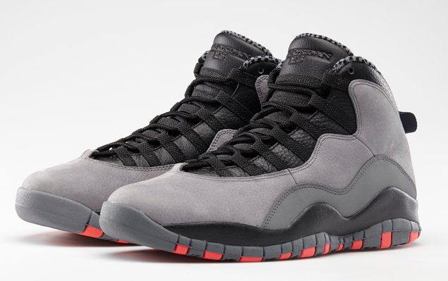 Buy Discount Nike Air Jordan 10 Cool Grey Infrared-Black 310805