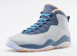 Air Jordan X (10) 'Wolf Grey/Dark Powder Blue-New Slate-Atomic Orange' | Official Images