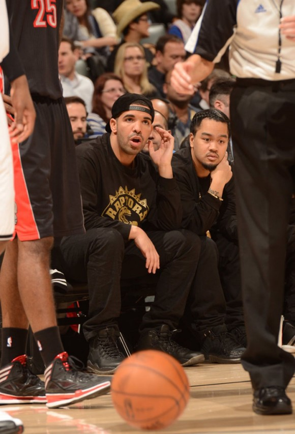 Drake Rocks Air Jordan 10 OVO on Drake Night
