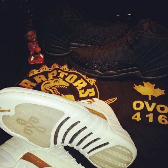 Drake Gives Amir Johnson Air Jordan 12 OVO Pack