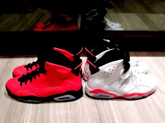 Battle of the Infrareds Air Jordan 6 Infrared vs Infrared 23