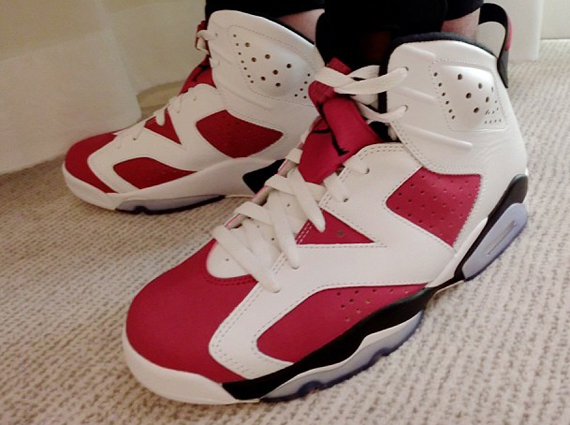 Air Jordan 6 Carmine On-Feet Images