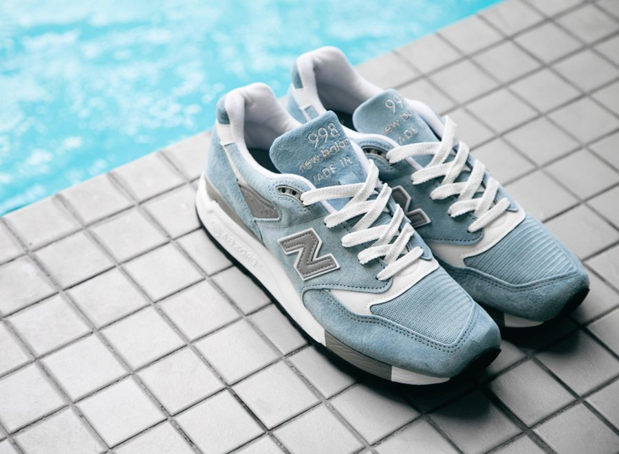New Balance 998 Made In Usa Pool Blå CmTnITbpQY