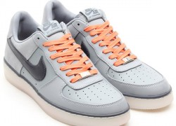 Nike Air Force 1 Downtown 'Silver/Dark Grey-White-Atomic Orange'