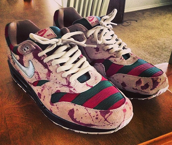 Nike Air Max 1 Freddy Customs by MajorHeat Productions