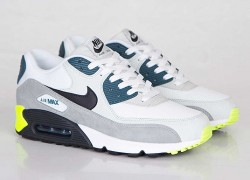 Nike Air Max 90 Essential 'White/Black-Prune-Light Base Grey-Base Grey'