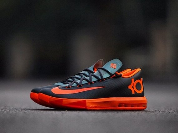 online store 79307 dea80 Nike KD 6 Black Orange Red