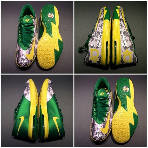 Nike KD 6 Oregon Ducks Armed Forces Classic PE Another Look