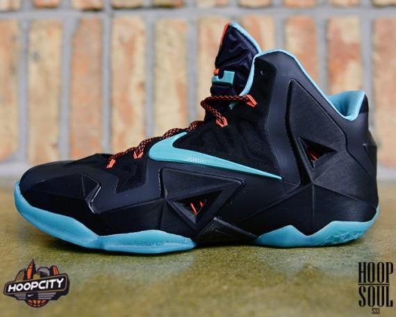 Nike LeBron 11 Black Diffused Jade Light Crimson Jade Glaze Another Look